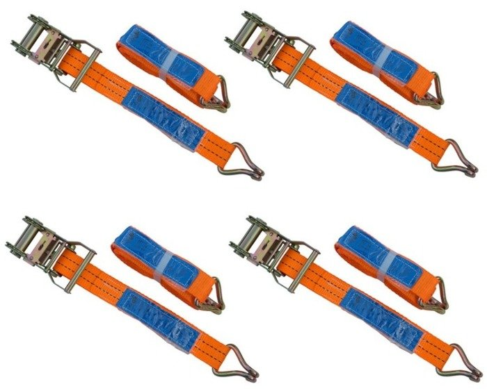 4 x sangle d'arrimage avec tendeur 6M/35mm/2T